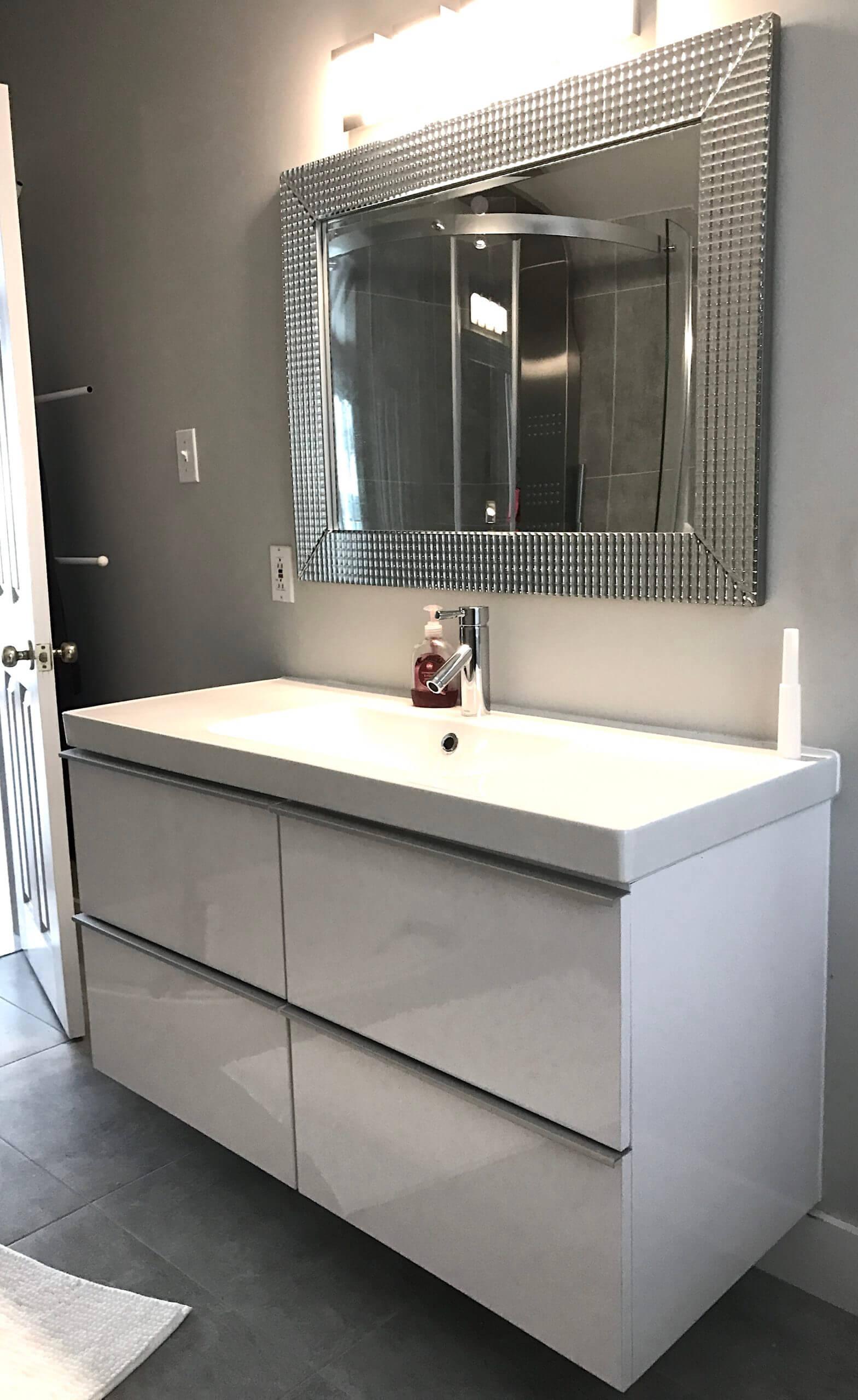 bathroom plumbing and electricity