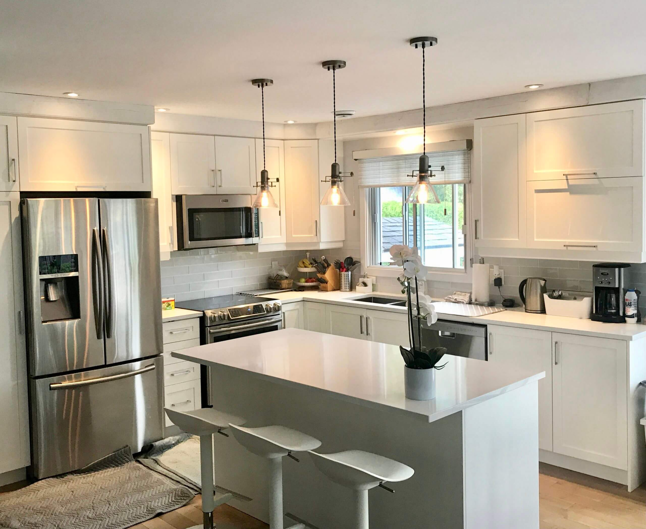 beautiful remodeled kitchen with new sink